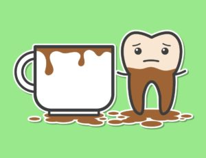 Coffee Stained Teeth Illustration